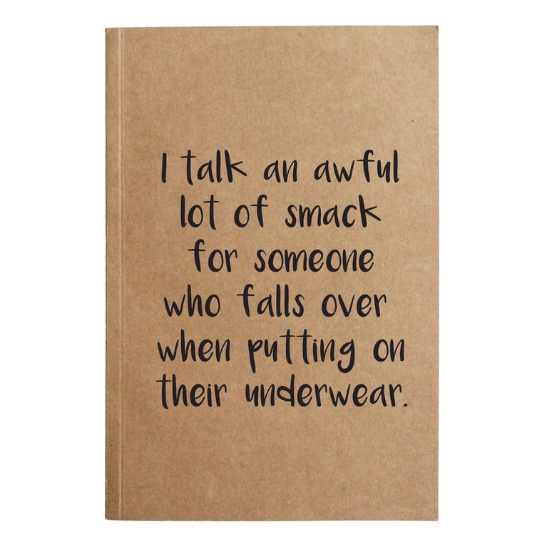 Falls Over Putting On Underwear Kraft Notebook