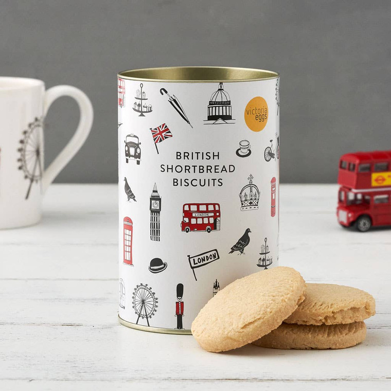 Shortbread Biscuits Introducing our new British Shortbread Biscuits proudly made and packaged in Britain. Our Biscuits pair perfectly with a cup of our English Breakfast Tea and make a great gift for someone special. Ingredients: Wheat Flour (Wheat Flour, Calcium Carbonate, Iron, Niacin, Thiamin), Butter (Milk) (20%), Sugar, Clotted Cream (4%) (Milk), Salt. Allergy Advice: for allergens including cereals containing gluten see ingredients in bold. Also, may contain nuts. Proudly made in Britain.