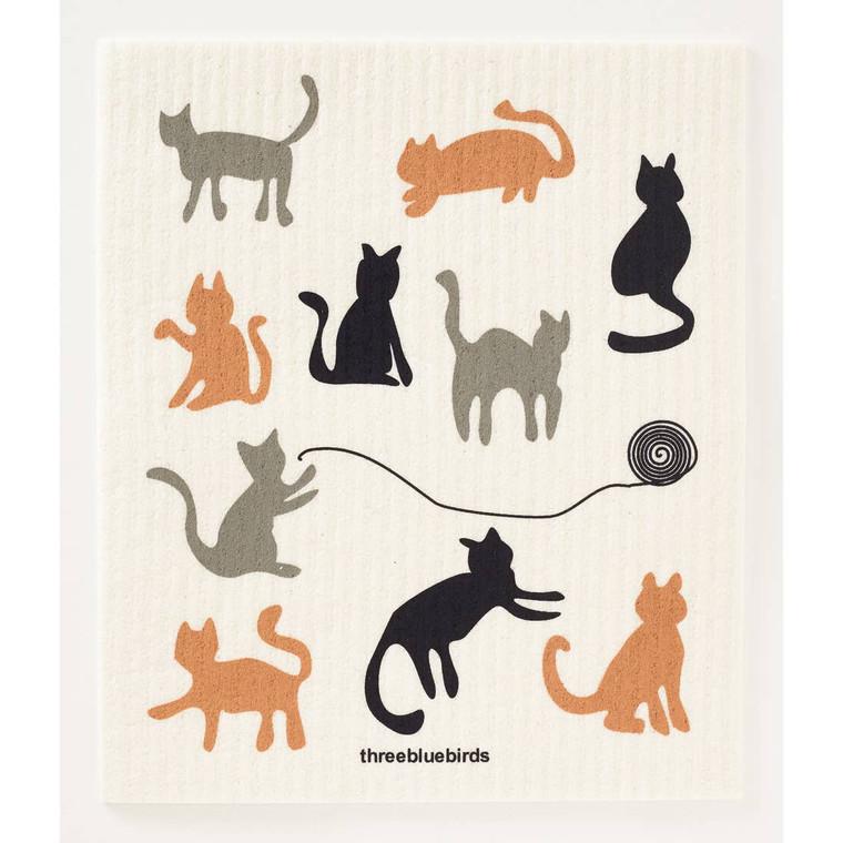 Cats Swedish Dishcloth