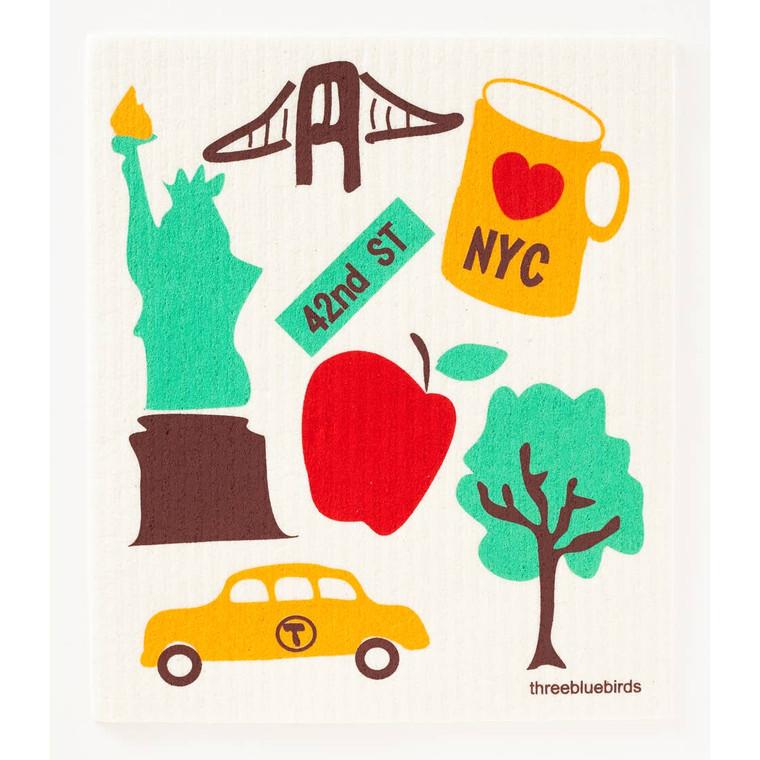 Love NYC Swedish Dishcloth