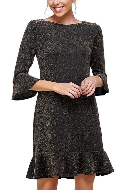Our Shimmer Dress is perfect to add a bit of sparkle to your festivities. These will be great for NYE or Birthday Zoom calls and can be worn with leggings (check out our super warm fleece lined leggigs) and boots for a night around the firepit too.  This is a more slim fitting dress so if you want a more relaxed fit order a size up.  Available in Small, Medium & Large and 2 colors - Gold Shimmer or Silver Shimmer