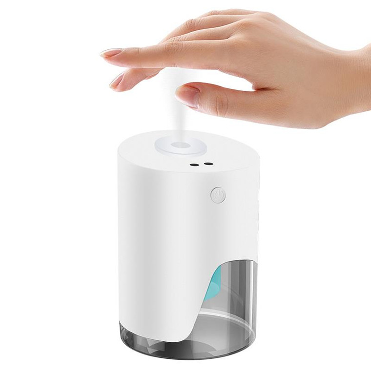 Promote easier hand sanitizing anywhere and anytime!   This Automatic Hand Sanitizer Dispenser is a fully automatic, touch-free dispenser that keeps the user's hands off the device at all times. The fully automatic design prevents cross-contamination and is extremely easy and hassle-free to use. Whether you use it at home, workplace, church, or business, this dispenser offers a safe and easy way to keep hands disinfected and completely germ-free. Designed to use with our signature 100% natural hand sanitizer Clean Hands, Plz, it keeps your hands clean, moisturized, and soft ● Freestanding dispenser; requires no installation ● Lightweight and portable ● USB Rechargeable ● Holds Approximately 3.4 OZ Made in United States of America