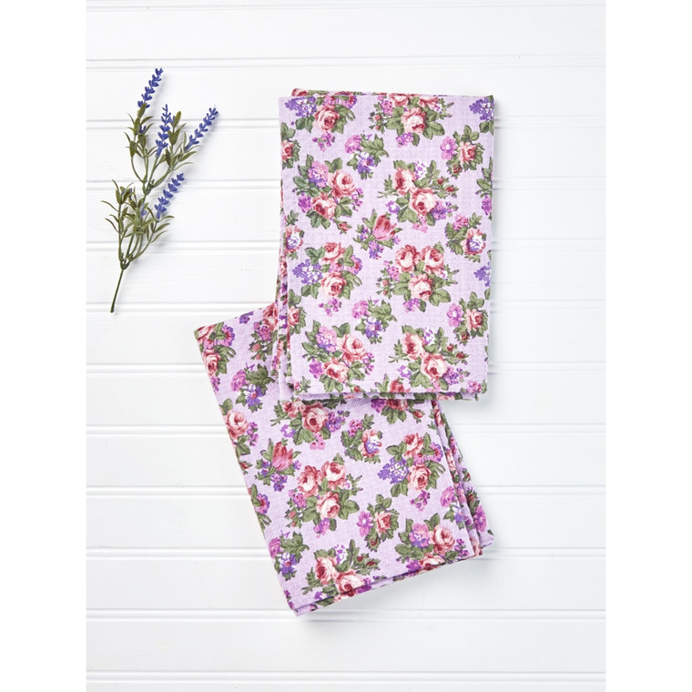 Elizabeth's Garden Tea Towel  19X27.  100% cotton.  Machine wash separately cold water tumble dry low warm iron.  Spring.  Made in India