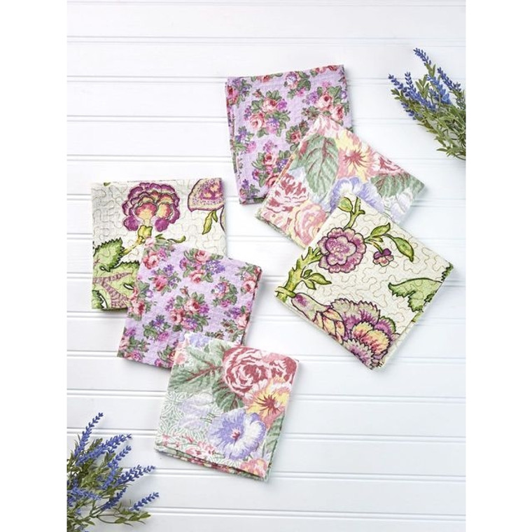 Tea Garden Tiny Towel Bundle - Set of 6  Fabric content: 100% cotton.  Care instruction: machine wash separately cold water tumble dry low warm iron  Size: 12x12  Made in India