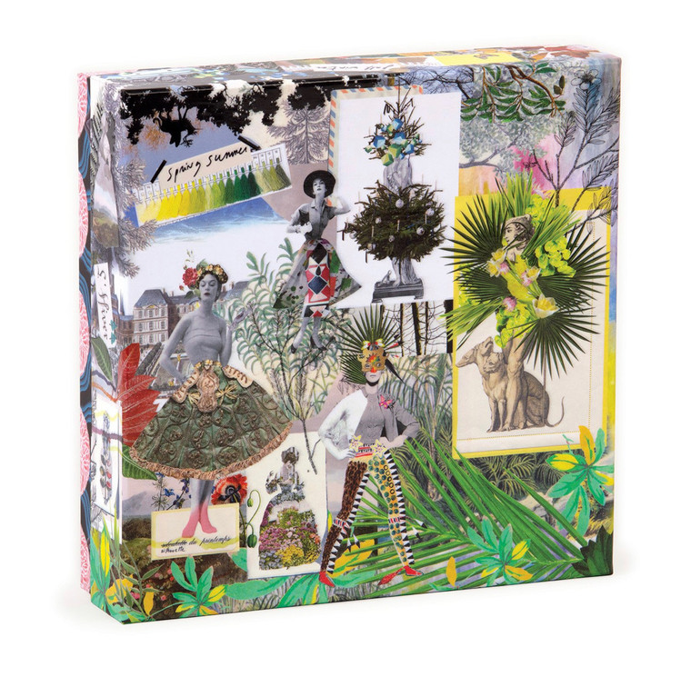 Christian Lacroix Heritage Collection Fashion Season Double-Sided 500 Piece Jigsaw Puzzle  To celebrate a heritage rich in unique, exuberant, and iconic design from Christian Lacroix stationery and gift, the house reintroduces some of the most beloved artwork on our most popular gift items. Reacquaint yourself or someone in your life with two of the house's most iconic designs with this double-sided puzzle. Christian Lacroix puzzles are packaged in sturdy two-piece boxes, perfect for gifting, reuse, and storage.
