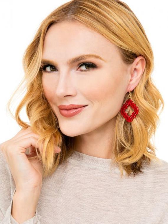 Latty Red Earrings