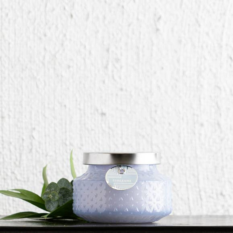 This fragrance features an intoxicating blend of bergamot, cedarwood and citrus leaf. Retro jar. These curated candles are hand crafted and hand poured.