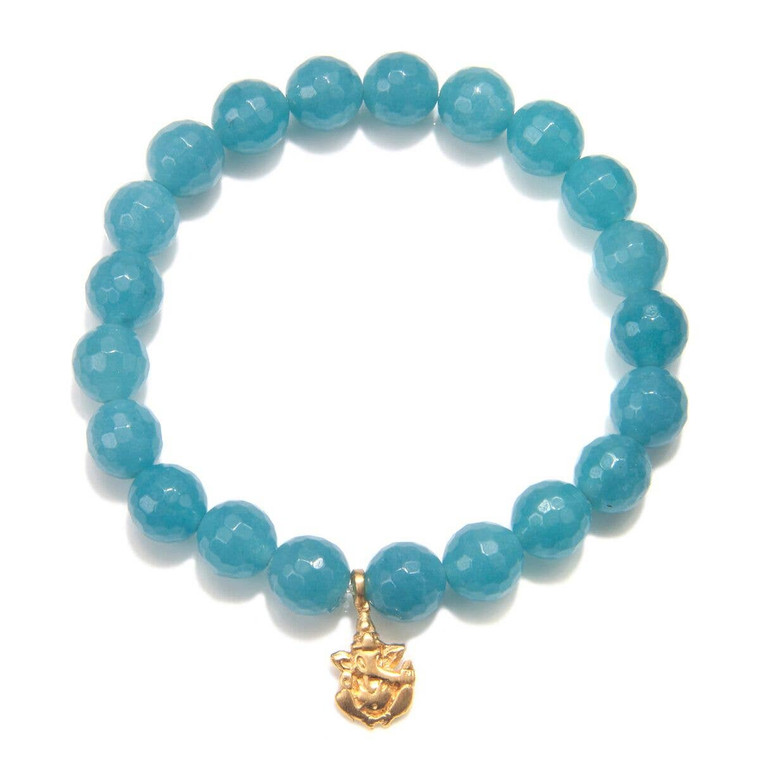 Guidance Bracelet Ganesh - Remover of Obstacles Angelite - Truth, Compassion