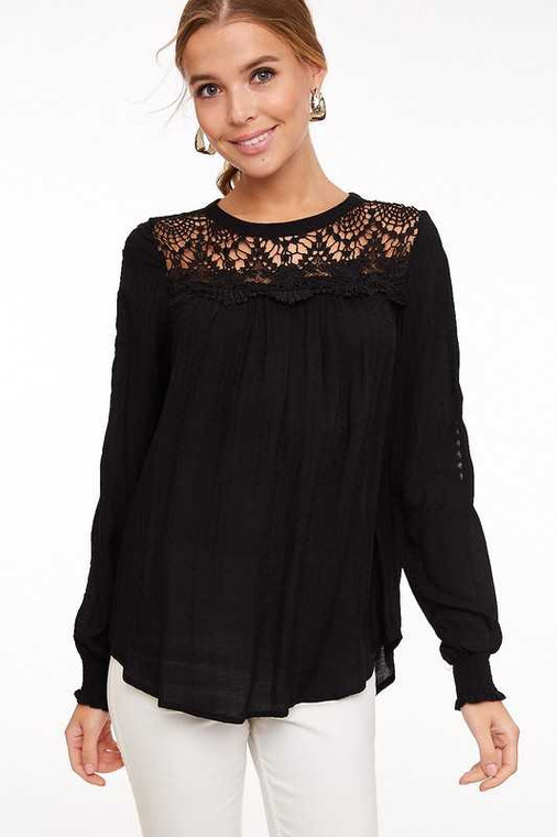 black top blouse