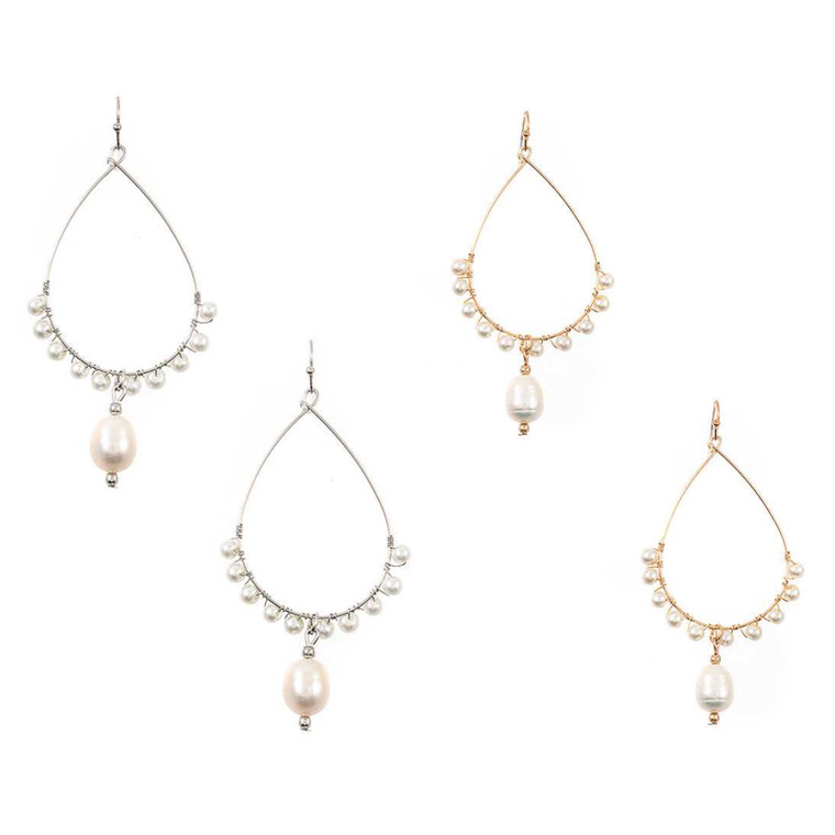 These earrings are super comfortable to wear because they are really light.
