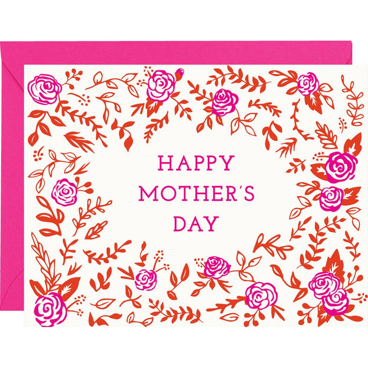 Mother's Day Floral Frame A2 Single Card