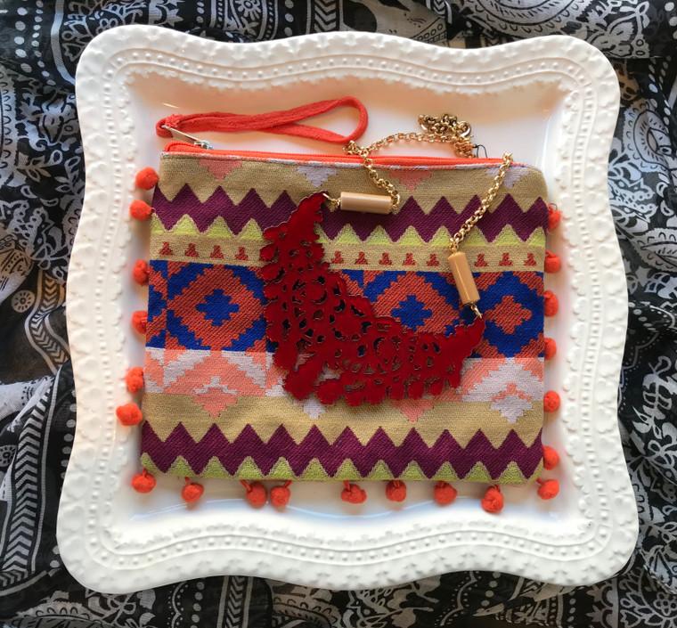 Burgundy Necklace & Wristlet Gift Set $48