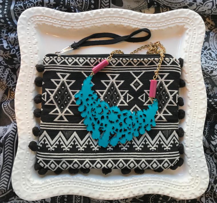 Blue Necklace & Wristlet Gift Set $48