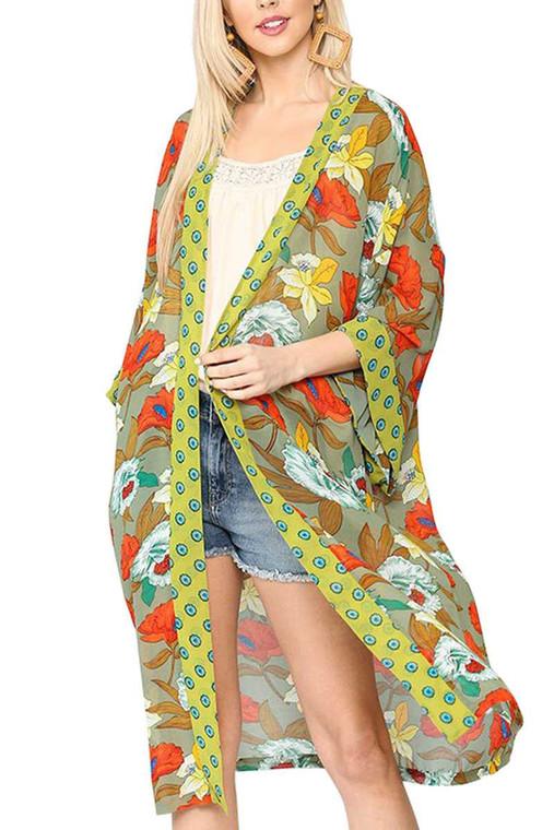 Flora Kimono Duster $69
