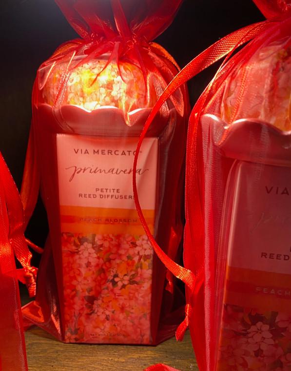 Via Mercato - ThePeach Blossom Set includes Primavera Soap & Dish + Reed Diffuser