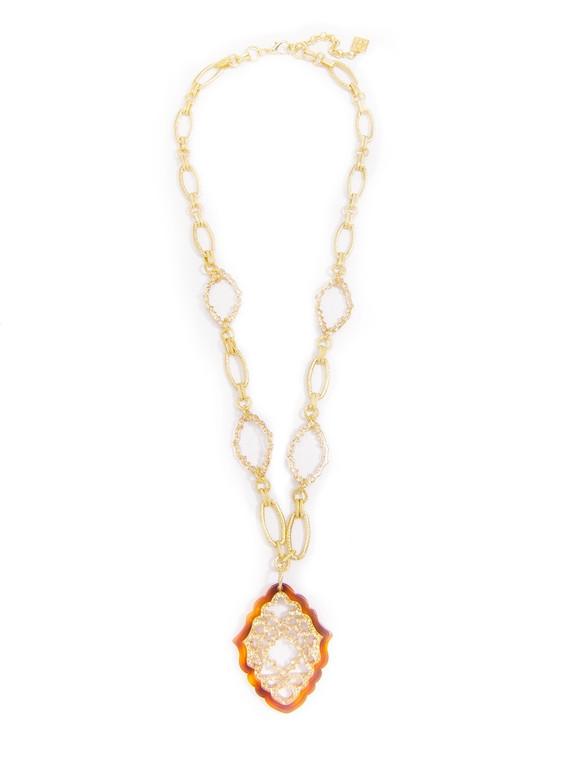 Glitz Tort/Gold Necklace
