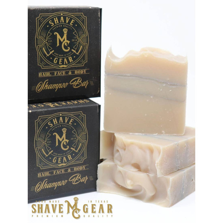 Our Hair, Face & Body Shampoo Bar can be used to wash your hair, face, and body.  Loaded with skin-loving oils and butters, this bar will quickly become your absolute favorite. To make it even better - its all natural.  Available in our two best-selling scents: Imperial (cedarwood, patchouli and amber) and Journeyman (cedarwood, lavender, tea tree, rosemary, and key lime). Each 4 1/2 oz. bar comes packaged in black box with a detailed label.