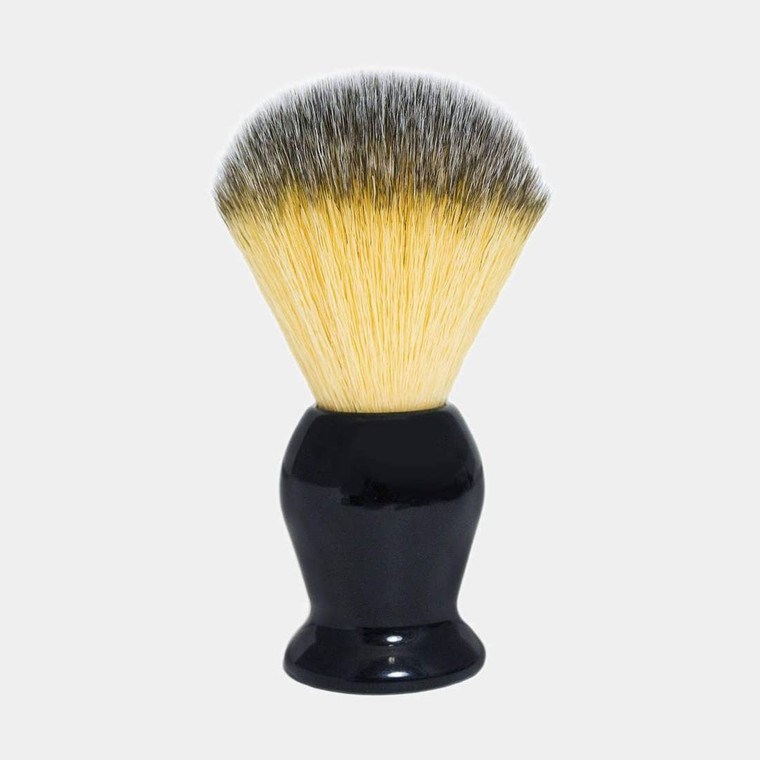 """Exceptionally soft bristles with a fantastic firm """"backbone"""" make this the last brush you'll ever need to purchase! The Rockwell Synthetic Shaving Brush comes with a lathe-turned black acrylic handle. Polyester bristles - the softest synthetic bristles we had ever come across. Completely animal free. Durable, taught and sturdy bristles build a thick, foamy lather, while gently exfoliating the skin. 22mm knot."""