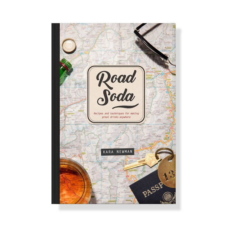 Road Soda Book It's often difficult for a cocktail enthusiast to find a decent drink on the road, especially when faced with the limited selection offered by hotel mini bars, airplane drinks carts and the great outdoors. Road Soda is the ultimate guide for on-the-go cocktail making, with tips and recipes from cocktail expert Kara Newman. Readers will learn how to become mini-bar mixologists; how to build portable cocktails; how to make drinks for camping and tailgating, and more.