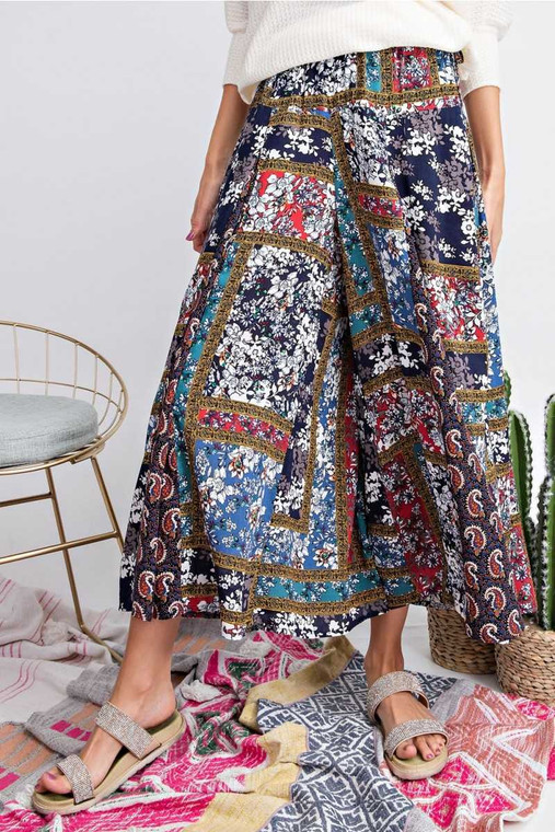 These look like nice flowy skirts but are really divided skirts so really comfy pants! 100% Rayon