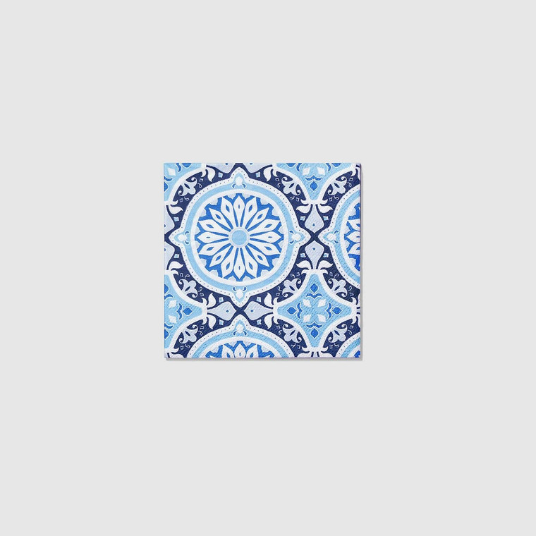 Inspired by Italian tiles, perfect for your next event. These ornately patterned napkins are a modern crowd-pleaser with old-world flair. Includes 25 napkins.