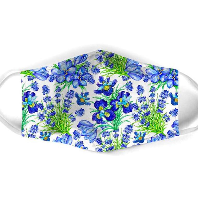Blue Flowers Mask $15