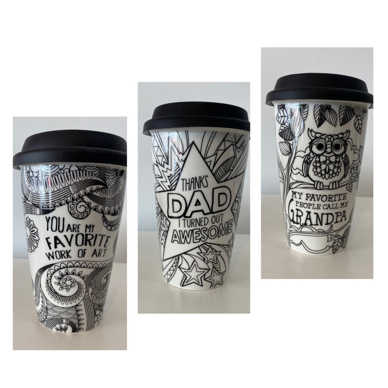 Ceramic Travel Cup with Lid - Only Available In-Store