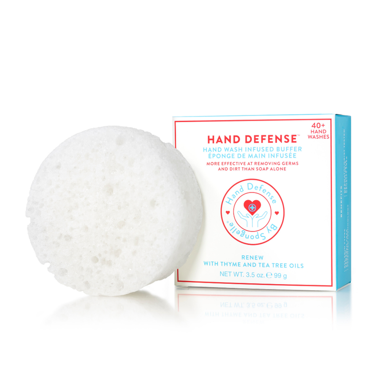 Renew | Hand Defense Designed for frequent hand washing, this soap is enriched with Glycerin to moisturize and hydrate; Shea Butter and Cocoa Butter to smooth and soften; and Panthenol and Oatmeal to soothe and protect. The specially engineered sponge with patented technology thoroughly cleanses critical areas often overlooked during normal hand washing, such as the cuticle and around the nail edges. Fragrance Notes T: lemon, mandarin, ginger M: ylang, tuberose, coconut, frangipani B: amber, vanilla, cashmere woods