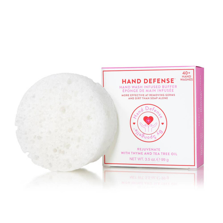 Rejuvenate | Hand Defense Designed for frequent hand washing, this soap is enriched with Glycerin to moisturize and hydrate; Shea Butter and Cocoa Butter to smooth and soften; and Panthenol and Oatmeal to soothe and protect. The specially engineered sponge with patented technology thoroughly cleanses critical areas often overlooked during normal hand washing, such as the cuticle and around the nail edges. Fragrance Notes T: sparkling citrus M: turkish rose, jasmine, armoise B: patchouli, guaiacwood