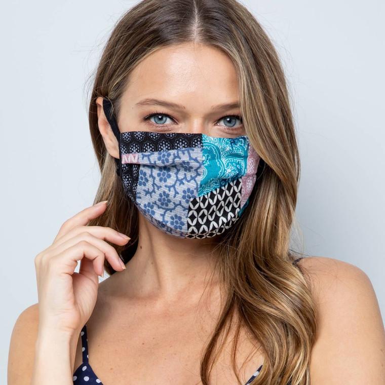 Black Patchwork Mask