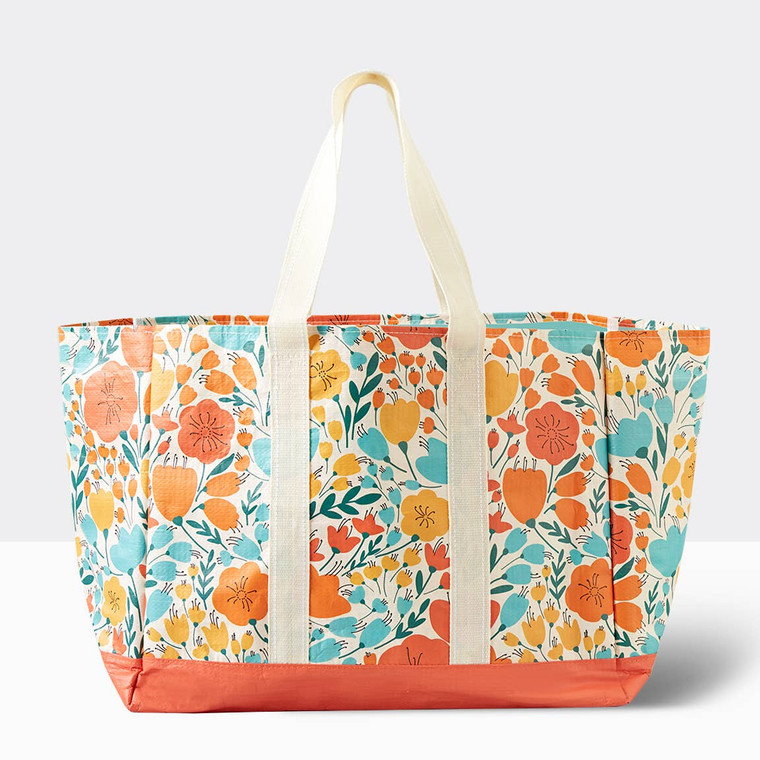 Carryall Tote - Poppy Floral