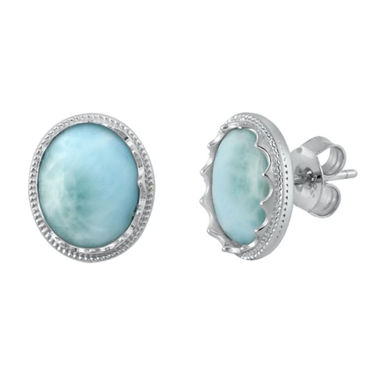 Larimar Sterling Silver Earrings $39
