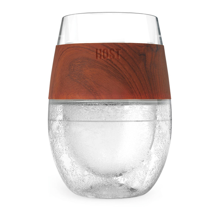 Wine FREEZE™ Cooling Cup in Wood