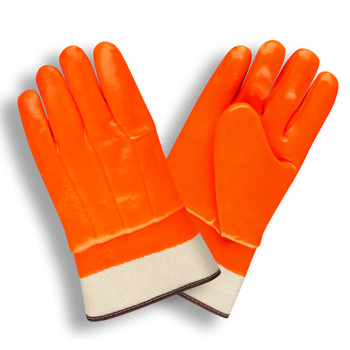 5710F HI-VIS ORANGE  DOUBLE DIPPED  FOAM INSULATED PVC  TEXTURED FINISH  SAFETY CUFF Cordova Safety Products