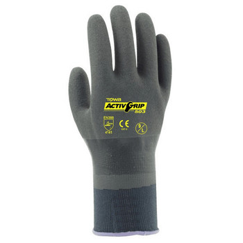 AG503L TOWA ACTIVGRIP  ADVANCE  13-GAUGE  GRAY NYLON SHELL  GRAY MICROFINISH NITRILE  FULLY COATED Cordova Safety Products