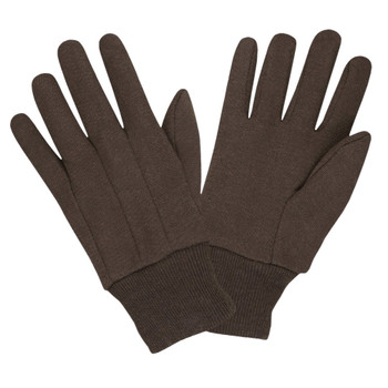 1410C STANDARD WEIGHT  100% COTTON  BROWN JERSEY  CLUTE CUT  KNIT WRIST Cordova Safety Products