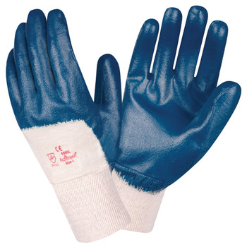 6980L BRAWLER II  PREMIUM DIPPED NITRILE  PALM COATED  INTERLOCK LINED  KNIT WRIST  SANITIZED Cordova Safety Products