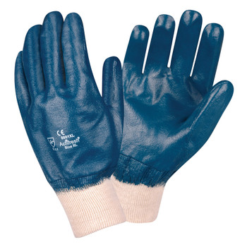 6981M BRAWLER II  PREMIUM DIPPED NITRILE  FULLY COATED  INTERLOCK LINED  KNIT WRIST  SANITIZED Cordova Safety Products