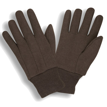 1400 MEDIUM WEIGHT BROWN JERSEY  CLUTE CUT  KNIT WRIST Cordova Safety Products