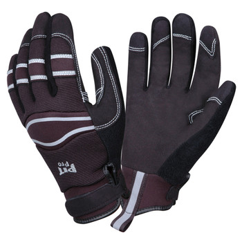 77171 PIT PRO  ACTIVITY GLOVE  BLACK SYNTHETIC LEATHER PALM  BLACK SPANDEX BACK  HOOK & LOOP CLOSURE  LARGE Cordova Safety Products