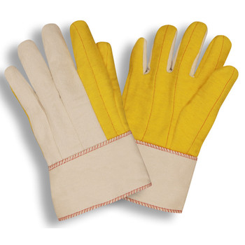 2316S YELLOW CHORE WITH CANVAS BACK  PE SAFETY CUFF Cordova Safety Products