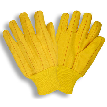 2318 YELLOW FULL CHORE  QUILTED  YELLOW KNIT WRIST Cordova Safety Products