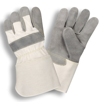 1040S SIDE SPLIT LEATHER  WHITE CANVAS BACK  RUBBERIZED GAUNTLET CUFF  KEVLAR SEWN Cordova Safety Products