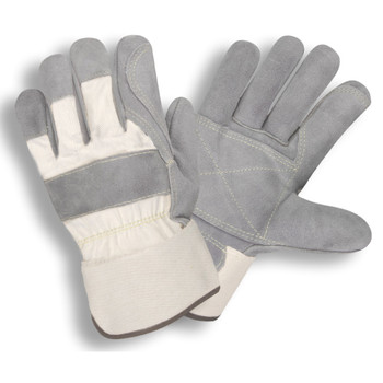 1051M SIDE SPLIT  DOUBLE PALM  WHITE CANVAS BACK  RUBBERIZED SAFETY CUFF  KEVLAR SEWN  Cordova Safety Products