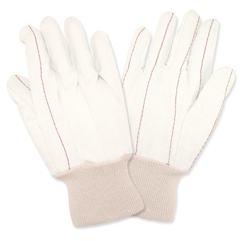 2445CD CORDED DOUBLE PALM  NAP-IN  NATURAL  100% COTTON  KNIT WRIST Cordova Safety Products