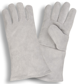 7605LH REGULAR SHOULDER LEATHER WELDER  ONE-PIECE BACK  FULL SOCK LINING  GRAY  LEFT HAND ONLY Cordova Safety Products