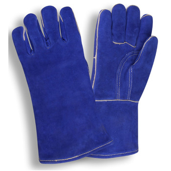7610 SELECT SHOULDER LEATHER WELDER  REINFORCED PALM  STRAIGHT THUMB  KEVLAR SEWN  FULL SOCK LINING WITH FOAM  BLUE Cordova Safety Products