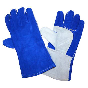 7615 REGULAR SHOULDER LEATHER WELDER  THUMB GUARD & PATCH PALM  FULL SOCK LINING  BLUE Cordova Safety Products