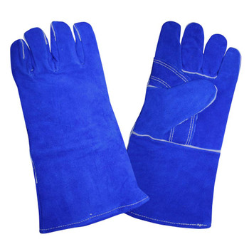 7620 SELECT SHOULDER LEATHER WELDER  REINFORCED THUMB  KEVLAR SEWN  FULL SOCK LINING  BLUE  Cordova Safety Products