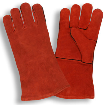 7630 SELECT SHOULDER LEATHER WELDER  ONE PIECE BACK  FULL SOCK LINING  RED Cordova Safety Products